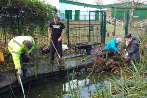 St Michaels School pond cleaning