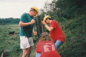 1995: Burrs Park, fencing.