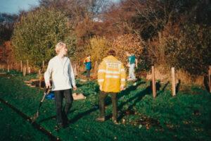 1995: Smithills School, tree planting.