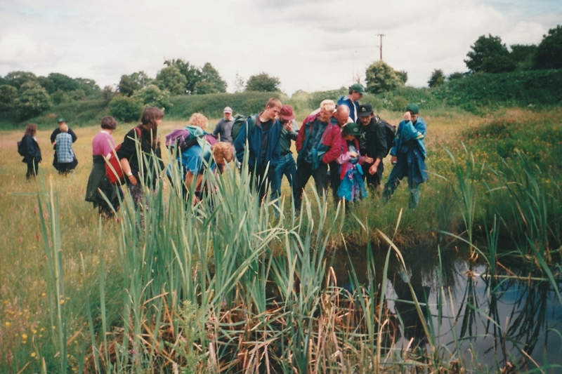 1996: Pond work at Rixton Clay Pits.