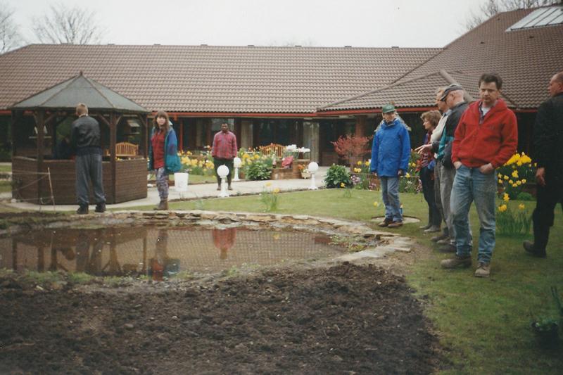 1997: Bolton Hospice, garden and pond.