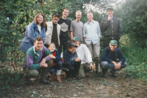 1997: Queens Park, pond work.