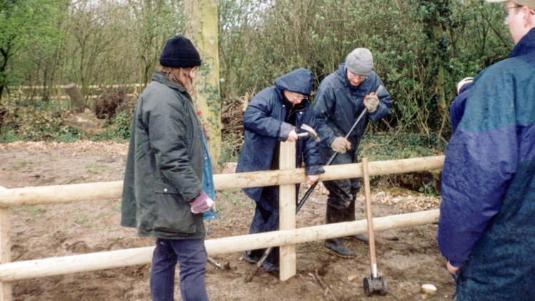 2000: Rixton Clay Pits. access work.