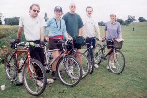 2002: Astley Moss bike ride.