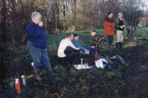 2005: Chew Moor, hedge laying.
