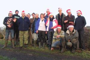 2015: Wayoh Reservoir, Christmas hedgelaying.