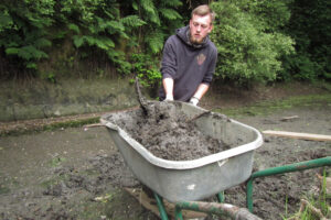 digging out the pond