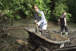 Digging out the silt